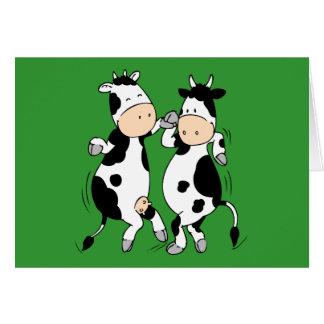 Tanzen-Kühe (mooviestars) Grußkarte