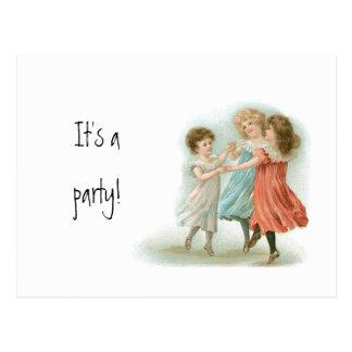 Tanzen-Mädchen-Postkarten-Party Einladung Postkarte