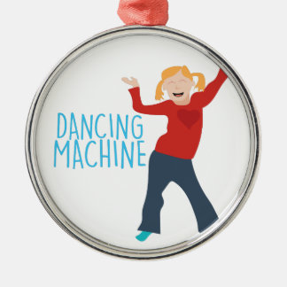 Tanzen-Maschine Silbernes Ornament