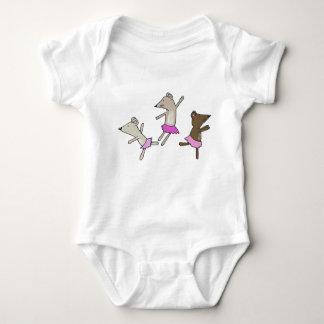 Tanzen-Mäuse Baby Strampler