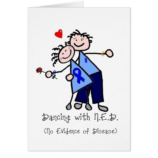 Tanzen mit N.E.D. - Darmkrebs Grußkarte