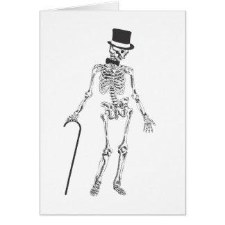 Tanzen-Skelett Grußkarte