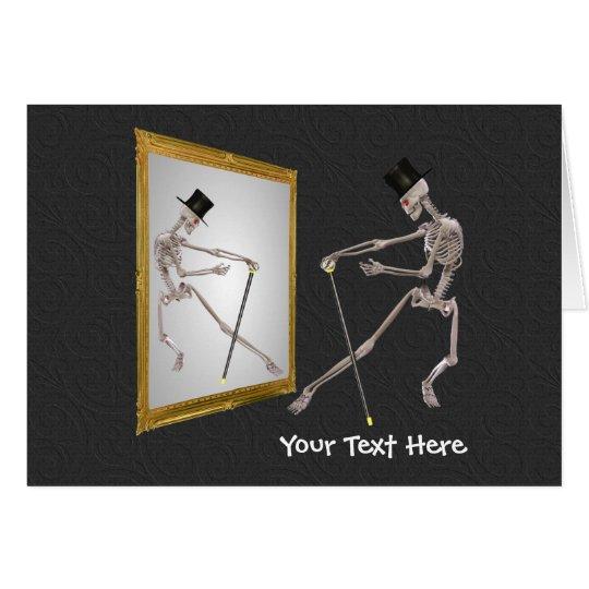 Tanzen-Skelett Spiegel-in der lustigen Foto-Karte Grußkarte