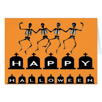 Tanzen-Skelette Grußkarte