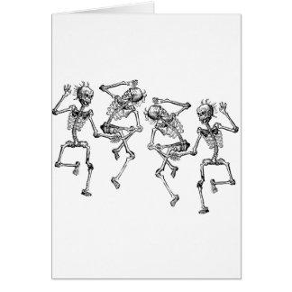 Tanzen-Skelette Karte