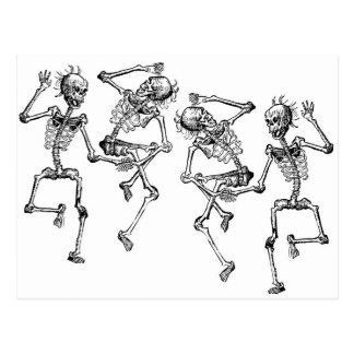 Tanzen-Skelette Postkarte