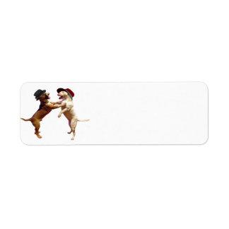 Tanzen-Stier-Terrier-Rücksendeadresse-Aufkleber