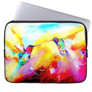 """Tanzend in Farbe"" Kolibri-Druck Laptop Sleeve"