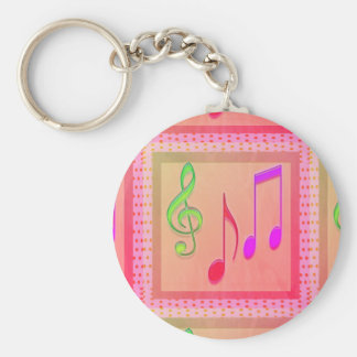 Tanzende musikalische Symbole Schlüsselanhänger
