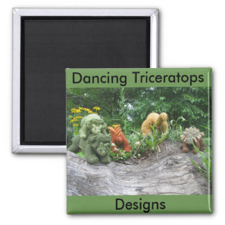 TanzenTriceratops entwirft Kühlschrankmagnet