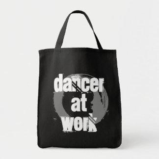 Tänzer an der Arbeits-schwarzen/weißen/grauen Tragetasche