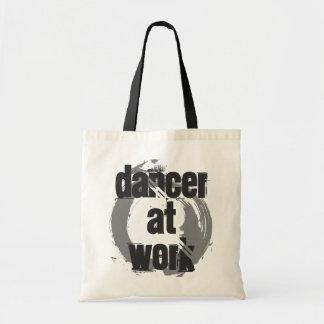 Tänzer an der Arbeits-weißen/grauen/schwarzen Tragetasche