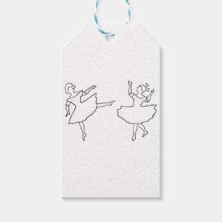 Tänzer-Ausschnitt-Illustration Geschenkanhänger