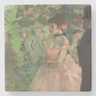 Tänzer-Bühne hinter dem Vorhang Edgar Degass |, Steinuntersetzer