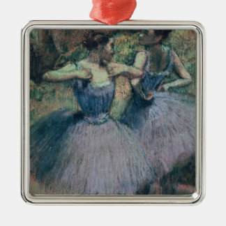 Tänzer Edgar Degass | im Veilchen Quadratisches Silberfarbenes Ornament