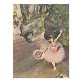 Tänzer Edgar Degass | nimmt einen Bogen Postkarte