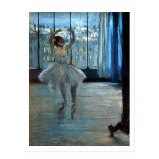 Tänzer Edgar Degass | vor einem Fenster Postkarte