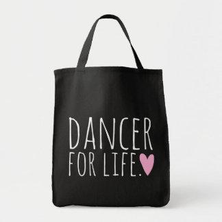 Tänzer für Leben-Schwarzes mit Herzen Tragetasche