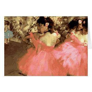 Tänzer im Rosa entgasen vorbei Notecard Karte