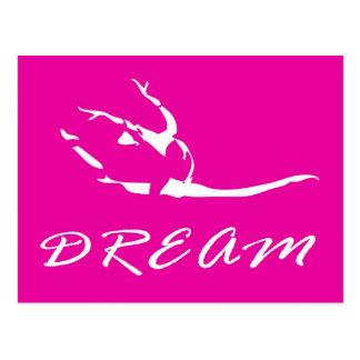 Tänzer oder Gymnast im Rosa Postkarte