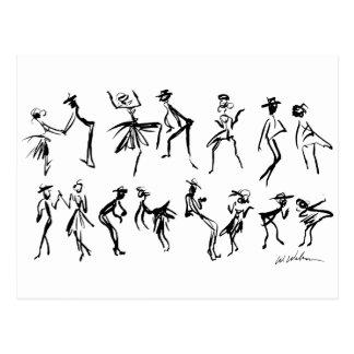 Tänzer Postkarte