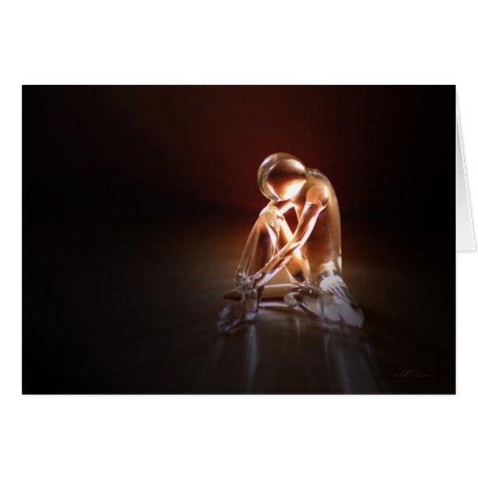 Tänzer von Glas/Dancer Totenglocke Grußkarte