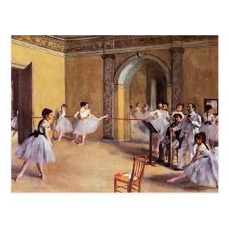 Tanzklasse an der Oper durch Edgar Degas Postkarte