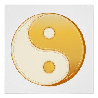 Taoismus-Symbol Poster