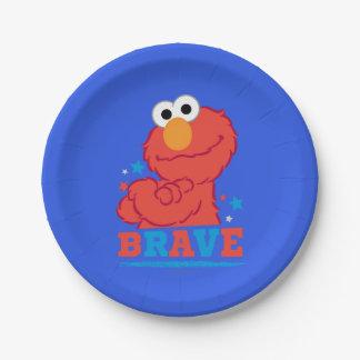 Tapferer Elmo Pappteller
