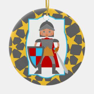 Tapferes Ritter-Jungen-Geburtstags-Party Keramik Ornament