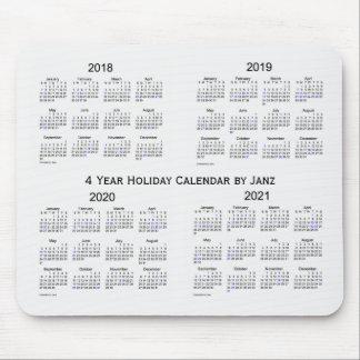 Tapis De Souris 2018-2021 calendrier blanc de vacances de fumée