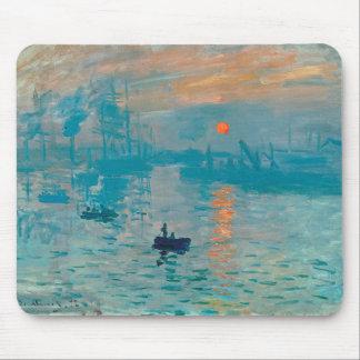 Tapis De Souris CLAUDE MONET - impression, lever de soleil 1872