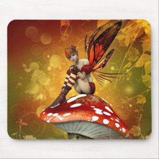 Tapis de souris de fée d'automne
