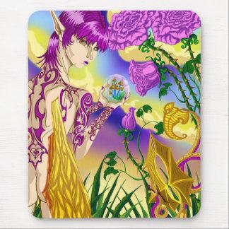 Tapis de souris de fée de champignon