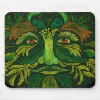 Tapis de souris de fée de jardin d'homme vert