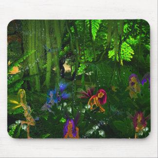 Tapis de souris de fées de forêt
