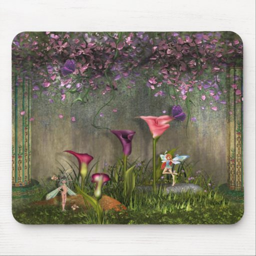 Tapis de souris de fées de jardin