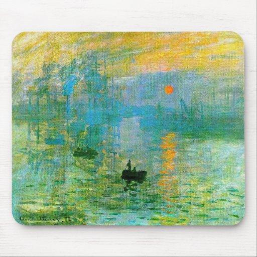 Tapis de souris de lever de soleil d'impressionism