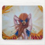Tapis de souris d'imaginaire de déesse de Phoenix
