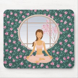 Tapis De Souris fille de yoga