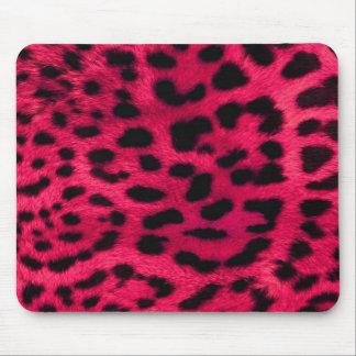 Tapis de souris rose de léopard
