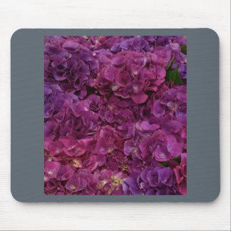 Tapis de souris rose d'hortensia