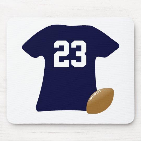 Tapis De Souris Votre chemise du football avec la boule