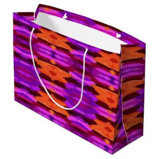 Tapisserie der lila und orange Geschenktasche Große Geschenktüte