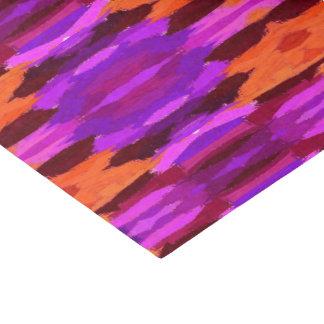 Tapisserie des lila und orange Seidenpapiers Seidenpapier