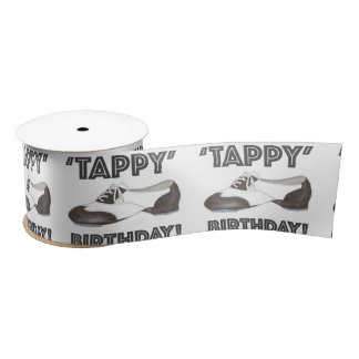 Tappy alles- Gute zum Geburtstagtanz-Lehrer Satinband