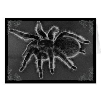 Tarantula-Spinnen-gotische Karte