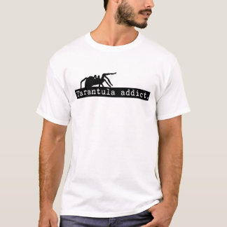 Tarantula-Süchtig-loser Sitz (weiß) T-Shirt