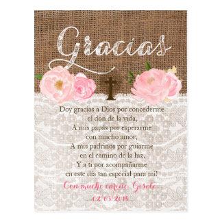 Tarjeta Betrug oracion Para invitados de Bautizo Postkarte