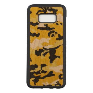 Tarnung druckt gelbes schwarzes Como Armee-Militär Carved Samsung Galaxy S8+ Hülle
